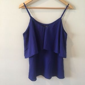 Forever 21 Blouse Top Cami Ruffle Top US Made